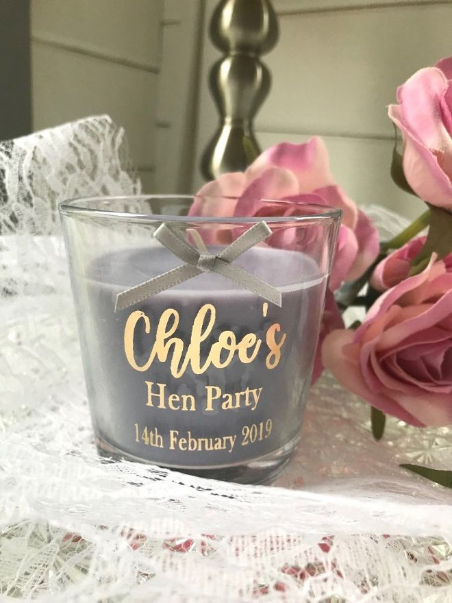 Hen Party Personalised Candle